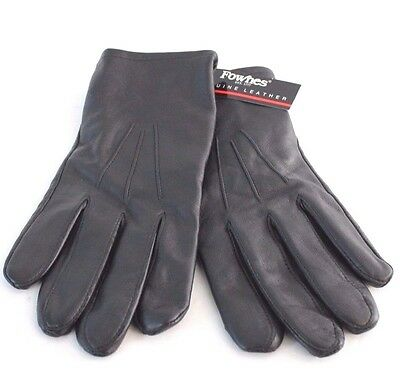 Fownes Men's Black Leather Gloves