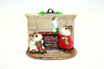 Wee Forest Folk WFF Christmas Morning By Fireplace M-92