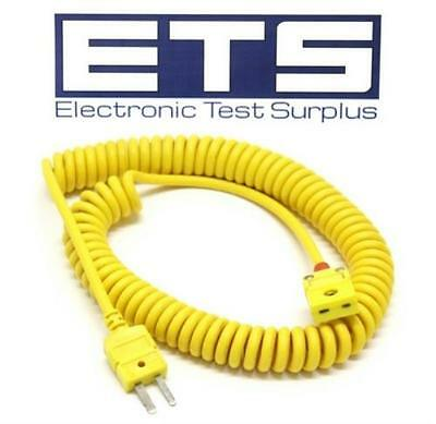 Omega Type-K Thermocouple Coiled Extension Cord Type K