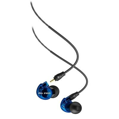 MEE Audio M6 PRO Noise-Isolating Limited Edition Blue In-Ear Monitors