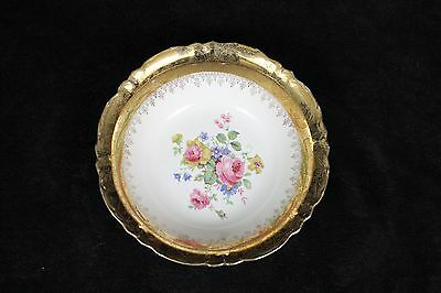 Homer Laughlin Eggshell Nautilus Marilyn Rose 22k Gold Border Soup Bowl 8""