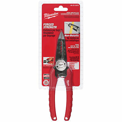 Non-Metallic Combination Wire Pliers Milwaukee 48-22-3070 New