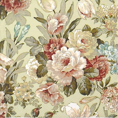 4 Single Table Party Paper Napkins for Decoupage Decopatch Craft Kate Green