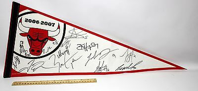 "2006 - 2007 Chicago Bulls Signed 30"" x 12' Pennant  Autographed"