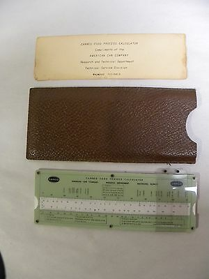 Vintage American Can Canco Canned Foods Process Calculator Slide Rule (A5)