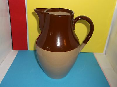 "Antique Bourne DENBY 8"" Stoneware Two Pint Jug - As Found (A/F) DISPLAY ONLY"