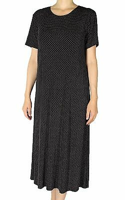 Women's Printed Slinky Casual Travel Short Sleeve Knit Maxi Dresses Made In USA