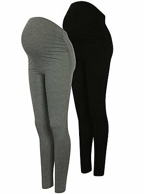 Woman Maternity 2 Pack Over Bump Leggings uk Size 8 to 20