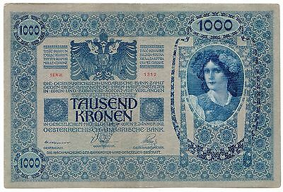 Austria P#8 1902 1000 Kronen, Large Circulated Note, Price Per Note [1766.0415]