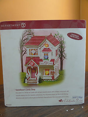 NEW Dept 56 55323 Sweetheart Candy Heart Shop Store Valentine Day Love Village