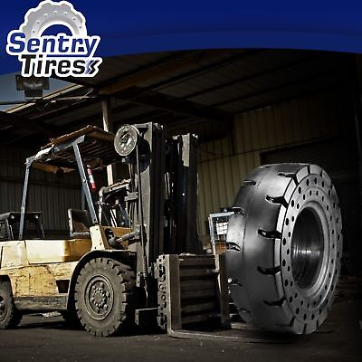 7.00-12 & 6.00-9 Sentry Tire Forklift Solid Rubber Tires (4 Tires) for CAT VC40D