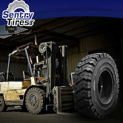 6.50-10 & 5.00-8 Sentry Tire Solid Forklift Tires DISCOUNT SET (4 TIRES)