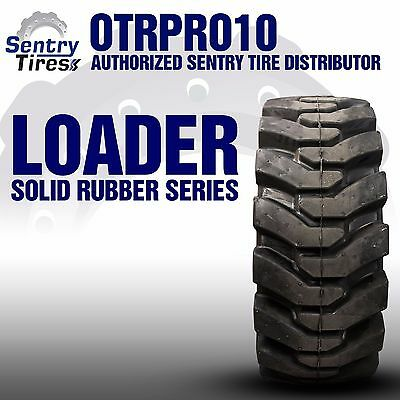 38x14-20 Sentry Tire Solid Loader 2 Tires w/ Wheels 38-14-20 15x19.5 For Volvo