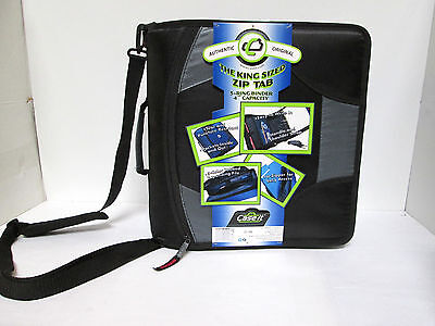 CaseIt King Sized Zip Tab 4 in 3-Ring Binder w/ Handle & Shoulder Strap [EH-A-C]