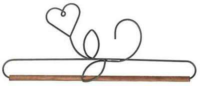 HEART FLOWER WIRE QUILT HANGER HOLDER, With Dowel From Ackfeld Manufacturing NEW