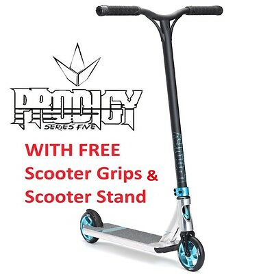2017 ENVY Prodigy S5 Complete Scooter POLISHED TEAL + FREE SCOOTER STAND & GRIPS
