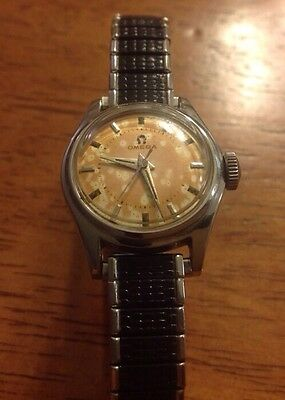 Vintage Ladies OMEGA Manual Hand Wind Watch, 20mm Stainless Case, Speidel Band