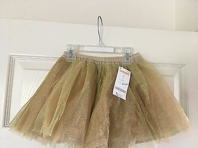 Gymboree Zebra Safari Fantasy Metallic Gold Skirt Tutu (size 2T) NWT