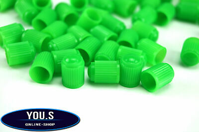 8 Pieces green Plastic Rubber Caps valve cap for cars trucks Motorcycle - NEW
