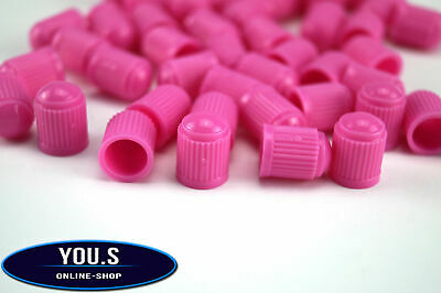 4 Pcs Plastic Rubber Valve caps in Pink for Cars car truck motorcycle