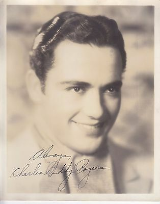 """Vintage Charles """"Buddy"""" Rogers Autographed Photo"""