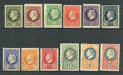 MONTENEGRO IN EXILE WWI - GAETA complete set WITHOUT OVERPRINT MH SET