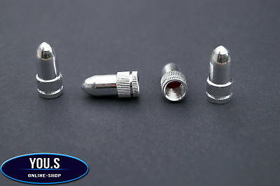 4 Pcs silver Cartridge valve cap for car truck vehicle Motorcycle - NEW