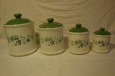 Corning Ware Corelle Callaway Jays Imports Cannisters Containers Set Of 4