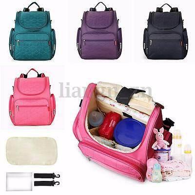 Nappy Mummy Backpack Baby Diaper Bags Newborn Baby Pad Changing Bag AU STOCK