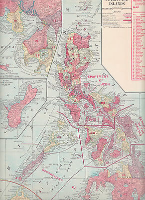 1911 Antique Map of the Philippines