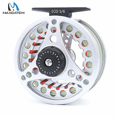 Maxcatch 5/6WT Pre-spooled Fly Reel Combo Large Arbor Aluminum Fly Fishing Reel