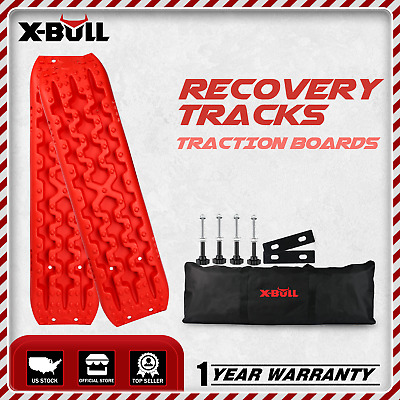 X-BULL Recovery TracksTraction Sand Snow Mud Track 4WD Tire Ladder Off Road Red