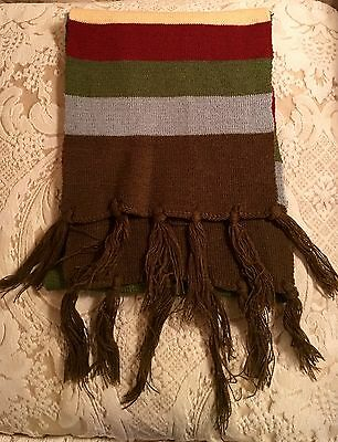 NEW Boys Brown, Gray, Burgundy, Yellow, Green Scarf Size 4 & Up