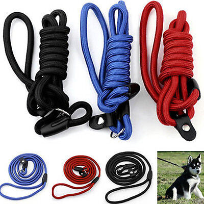 Pet Dog Nylon Rope Training Leash Lead Strap Adjustable Traction Collar 3 Color