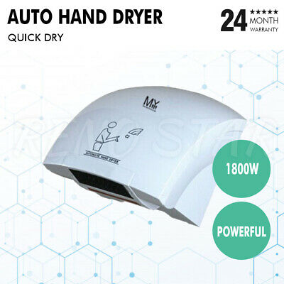 White Automatic Hand Dryer Quick Drying Powerful 1800W Commercial Hand Dryer