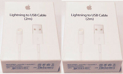 2X 2M - 6ft Authentic OEM Apple Lightning USB Cable Charger iPhone 7 6 6s