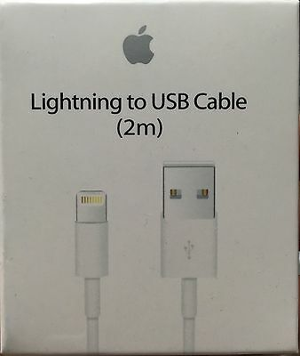 3X 2M - 6ft Authentic OEM Apple Lightning USB Cable Charger iPhone 7 6 6s