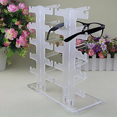 10-Pair Acrylic Sunglasses Glasses Retail Shop Display Stand Holder Rack Case EJ
