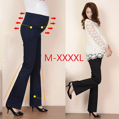 Maternity Pregnancy Wear Pregnant Casual Trousers Work Office Over Bump Pants UK