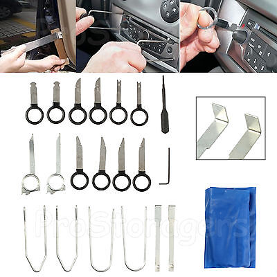 20PCS Car Radio Removal Tool Kit Stereo Head Unit Audio Equipment Tools Key Set