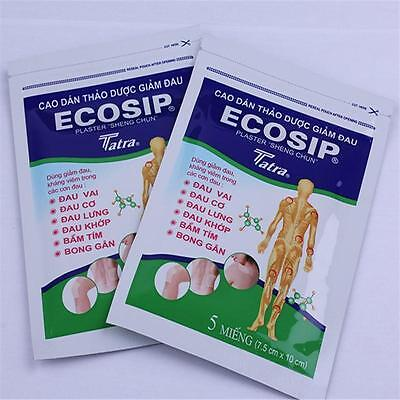 New 1 Pack*5 Patches Ecosip-Sheng Chun Tang Herbal Patch Pain Relief Patch YX