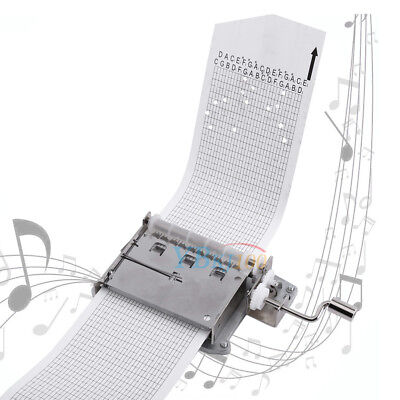 30 Note DIY Tape Crank Music Box Movement + Puncher + Blank 3 Strips Your Songs