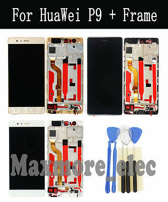 For Huawei P9 Standard LCD Display Touch Screen Digitizer + Frame Replacement