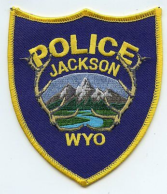 Jackson Wyoming Wy Police Patch