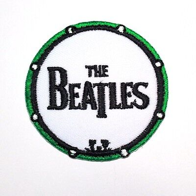 The Beatles Rock Music band Drum Embroidered Punk T-Shirt Applique Iron on Patch