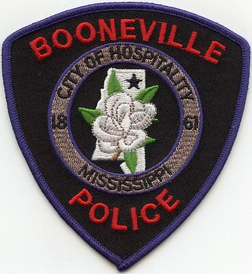 BOONEVILLE MISSISSIPPI MS City of Hospitality POLICE PATCH