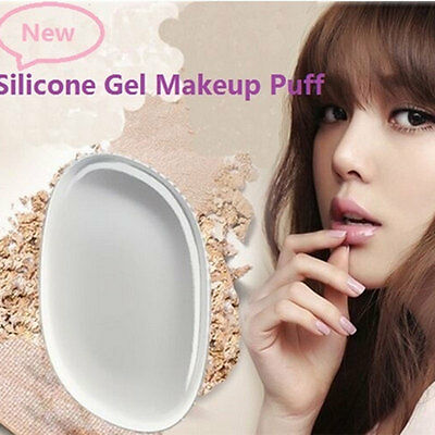 Silicone Gel Face Foundation Makeup Puff Cosmetic Beauty Not Sponge Blender