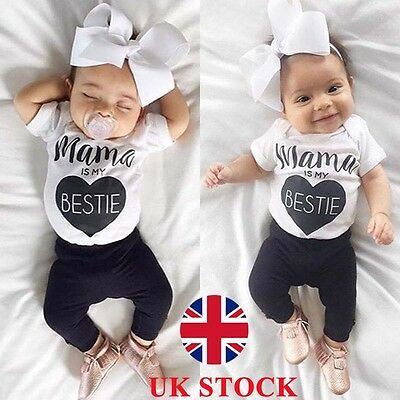 Baby Boy Girls Cotton Romper Jumpsuit Bodysuit Newborn Kids Clothes Outfit 0-18M