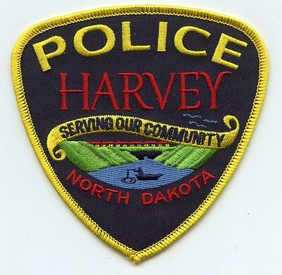 HARVEY NORTH DAKOTA ND Serving Our Community POLICE PATCH