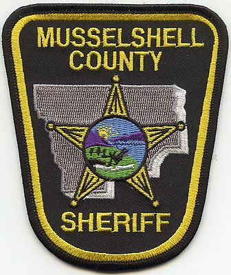 Musselshell County Montana Mt Sheriff Police Patch
